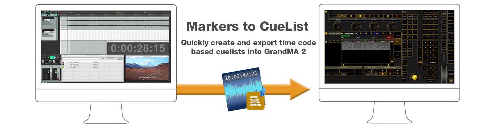 Markers to CueList
